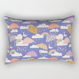 Spring Showers with Ducks Rectangular Pillow