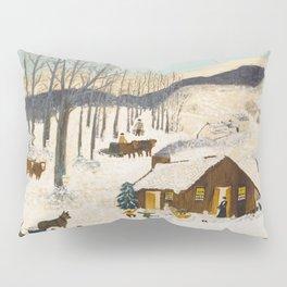 Anna Mary Robertson 'Grandma' Moses Sugaring Off American Folk Art Pillow Sham