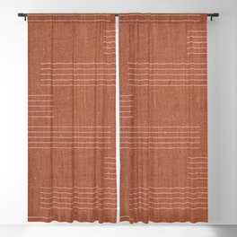 Minimal, Pattern, Boho Prints, Terracotta Blackout Curtain