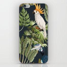 Exotic Bird & Leaf Pattern iPhone Skin