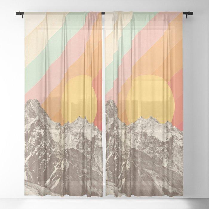 Mountainscape 1 Sheer Curtain
