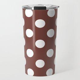 Bole - violet - White Polka Dots - Pois Pattern Travel Mug