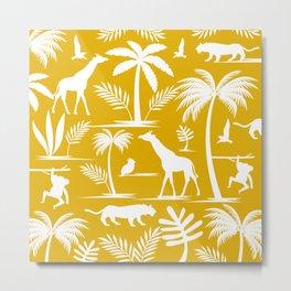 Jungle Safari Mustard Metal Print
