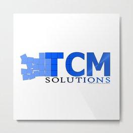 TCM Solutions Logo Metal Print