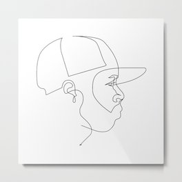 One Line For Dilla Metal Print