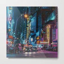 Colorful New York Empire Metal Print