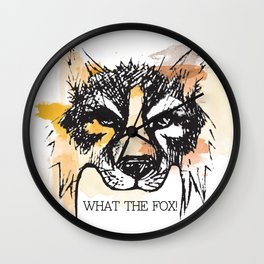 What the Fox Wall Clock