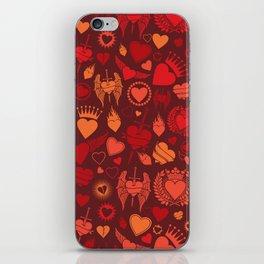 heart seamless pattern (valentine's day background) iPhone Skin