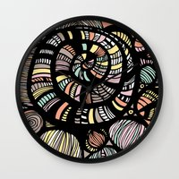 dreamer Wall Clocks featuring Dreamer by Sarah Doherty