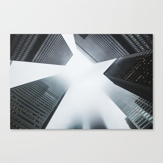 Hyper Fog - New York City Canvas Print