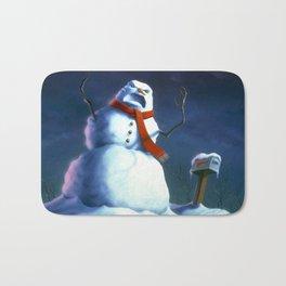 Beware the Snowman Bath Mat