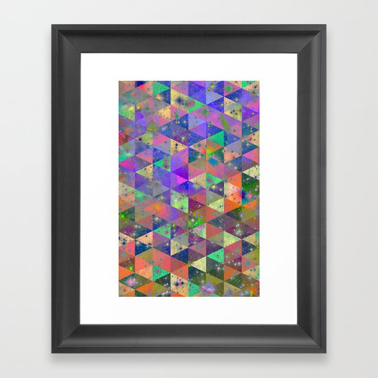 Triangulum Framed Art Print