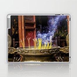 Incense Sticks Burning at the Ngoc Son Temple in Hanoi, Vietnam Laptop & iPad Skin