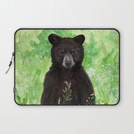 Cinnamon Black Bear Cub Laptop Sleeve