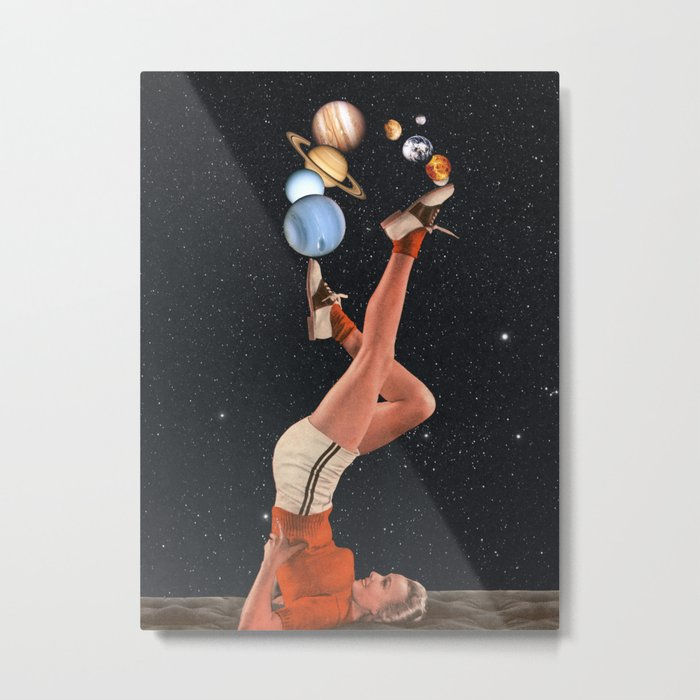 Cosmic Juggle Metal Print