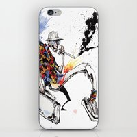 hunter s thompson iPhone & iPod Skins featuring Hunter S Thompson by BINDU by BINDU