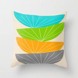 Mid-Century Modern Seed Pod Art Throw Pillow