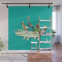 Crocodile Wall Mural