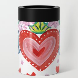 Valentine Heart with Wings Can Cooler
