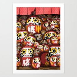 Daruma dolls Art Print