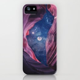 Grand Canyon with Space Collage iPhone Case