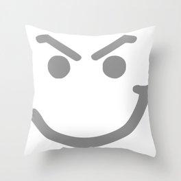Smirk Logo Throw Pillow