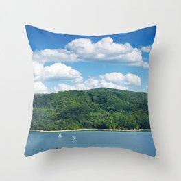 Lake Solina Throw Pillow