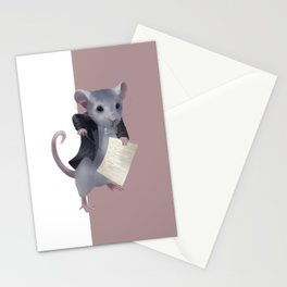 Mouse composer  Stationery Cards