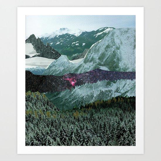 Experiment am Berg 15 Art Print
