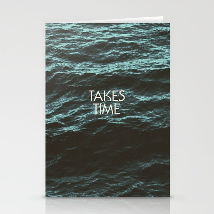 Jim Guthrie Takes Time Water Design Stationery Cards