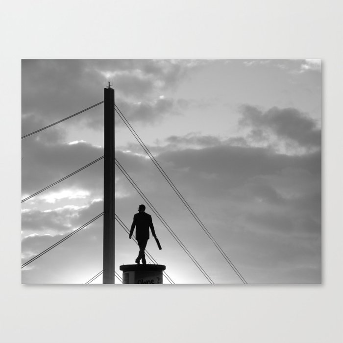 """""""Office worker"""" Canvas Print"""