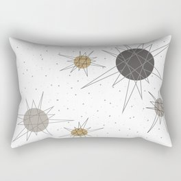 Atomic Stars Neutral Rectangular Pillow