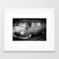 volkswagen Framed Art Prints featuring Volkswagen by Seza Kaymak