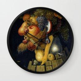"Giuseppe Arcimboldo ""Four seasons - Autumn"" Wall Clock"