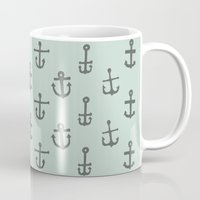 anchors Mugs featuring Anchors by siobhaniaa