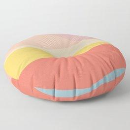 Retro Abstract Geometric Floor Pillow
