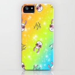 Gllama Llama Pattern iPhone Case