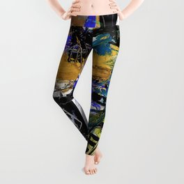 Jazzy Emotions No.1H by Kathy Morton Stanion Leggings