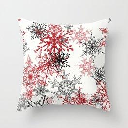 snowflake shine - 2 Throw Pillow