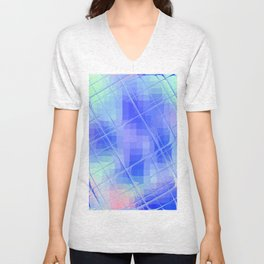Re-Created Twisted SQ XLIX by Robert S. Lee Unisex V-Neck