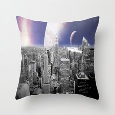 New New York : Galaxy City Throw Pillow