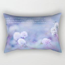 My Solitude Rectangular Pillow