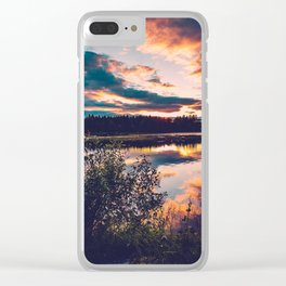 Colorful madness. And a bush. Clear iPhone Case