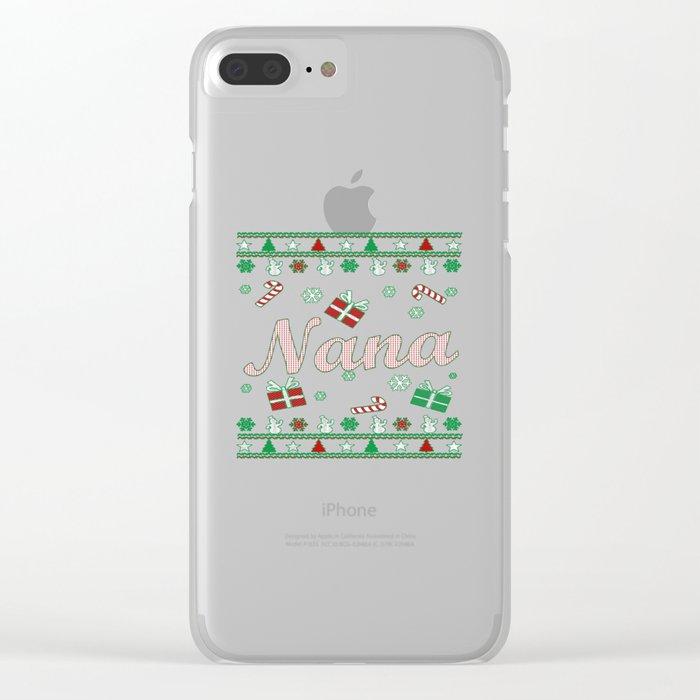 Nana Christmas Clear iPhone Case