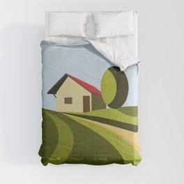 Cottage On Hill III Comforters