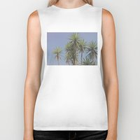 palms Biker Tanks featuring Palms by We feel by the Moon.