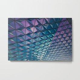 Blue Purple Geometric Pattern Metal Print