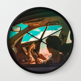 Clouded Ride Wall Clock