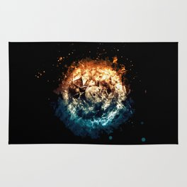 Burning Circle - Fire and Ice - Isolated Rug