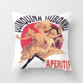 Quinquina Dubonnet Aperitif  Dans Tous Les Cafes Throw Pillow